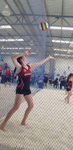 indoor beach volleyball serving-Bunbury Indoor Beach Volleyball-08 9726 0200
