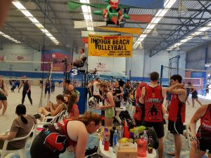 players getting ready before the start of a volleyball game-Bunbury Indoor Beach Volleyball-08 9726 0200players getting ready before the start of a volleyball game-Bunbury Indoor Beach Volleyball-08 9726 0200