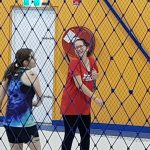 players having fun during a volleyball game-Bunbury Indoor Beach Volleyball-08 9726 0200